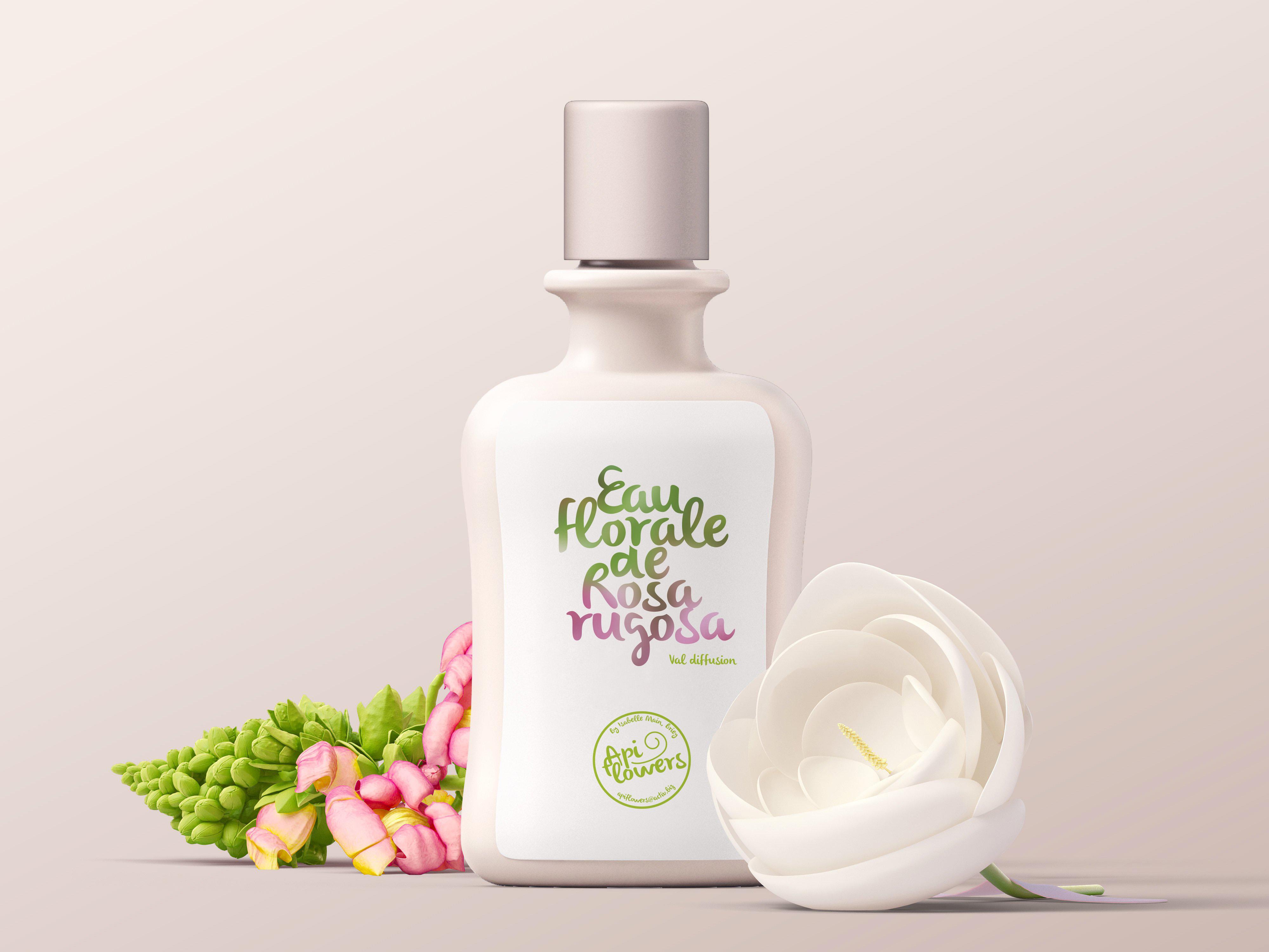 Packaging pour l'eau florale de Rosa Rugosa