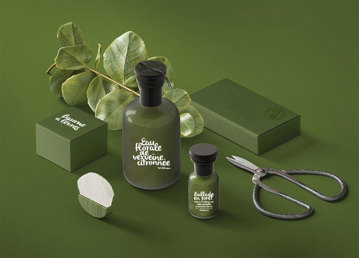 Création de packaging pour la gamme homme des produits apiflowers