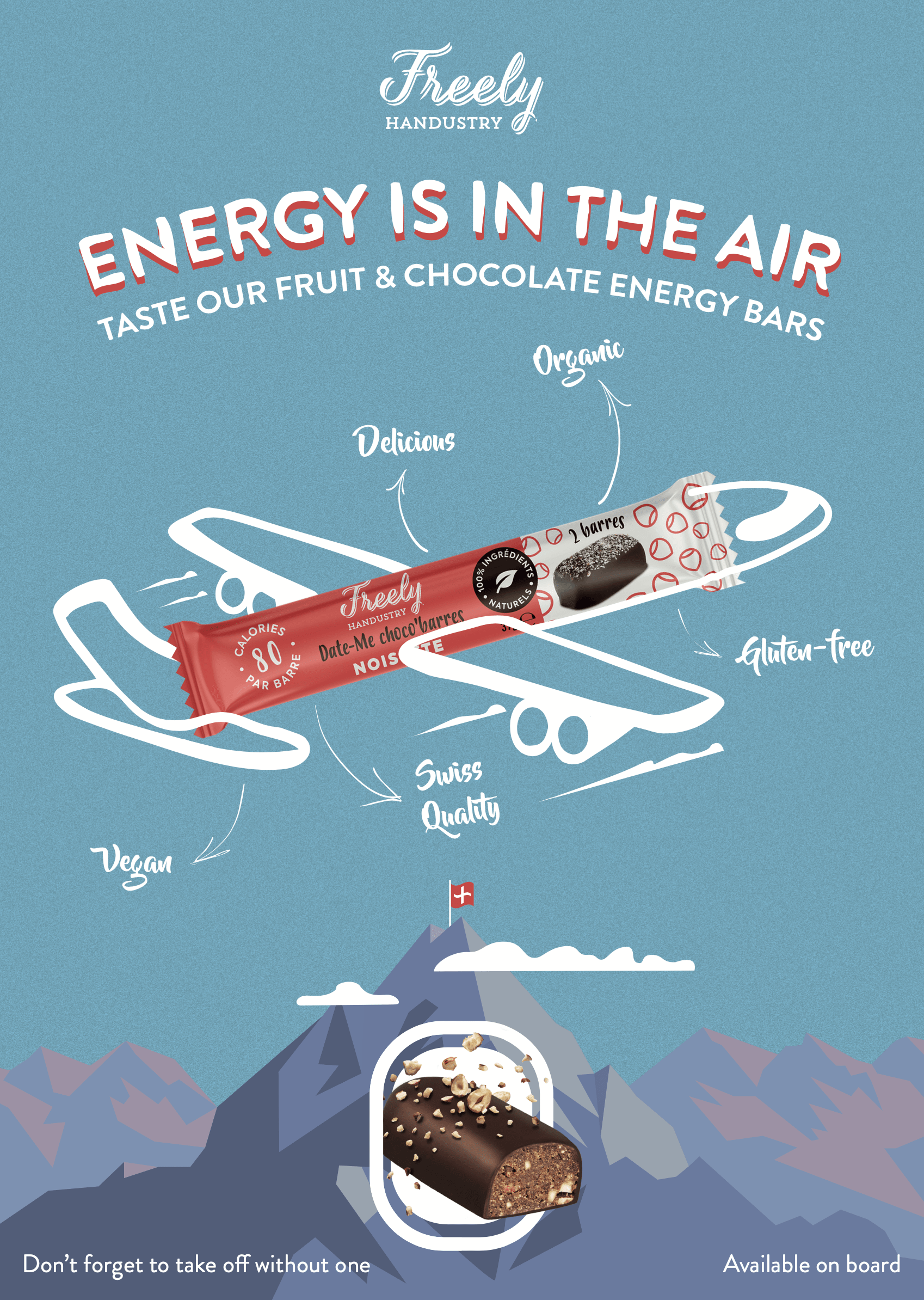 affiche freely catalogue Swiss air